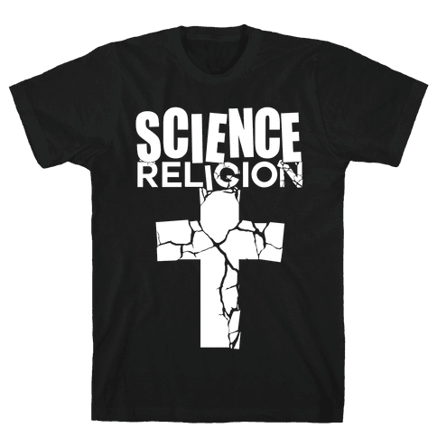 Science Crushes Religion Mens T-Shirt