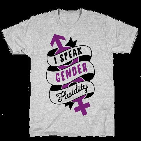I Speak Gender Fluidity Mens T-Shirt