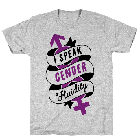 I Speak Gender Fluidity Mens T-Shirt