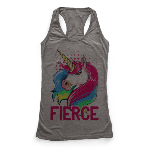 Fierce Unicorn Racerback Tank Top