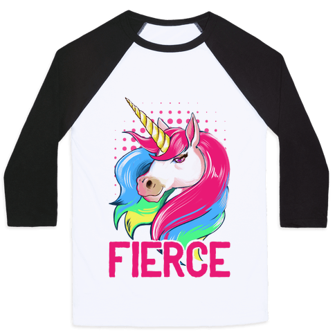 Fierce Unicorn Baseball Tee