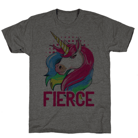 Fierce Unicorn Mens T-Shirt