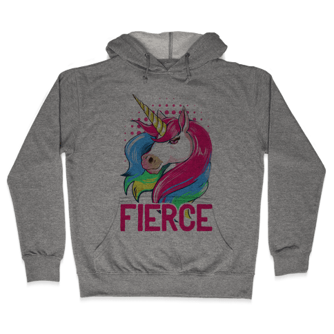 Fierce Unicorn Hooded Sweatshirt