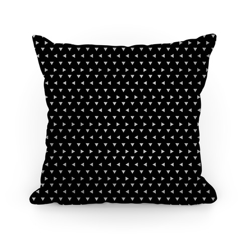 White Triangle Pattern Pillow