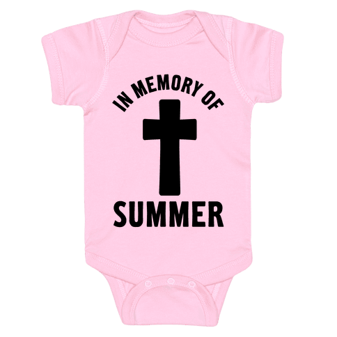 In Memory Of Summer Baby Onesy