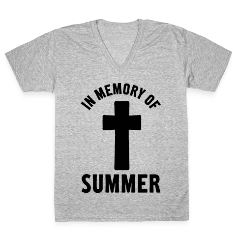 In Memory Of Summer V-Neck Tee Shirt