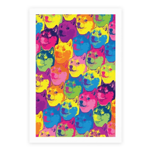 Pop Art Doge Poster