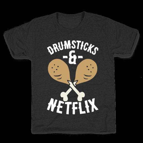Drumsticks And Netflix Kids T-Shirt