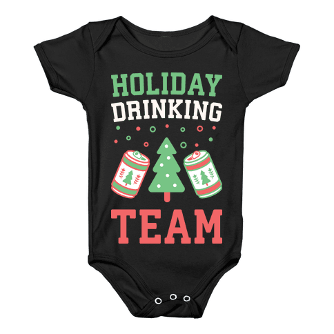 Holiday Drinking Team Baby Onesy