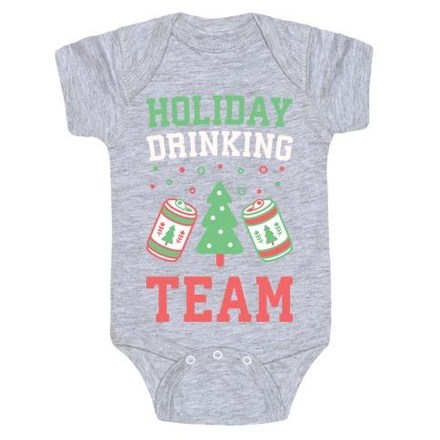 Holiday Drinking Team Baby Onesy
