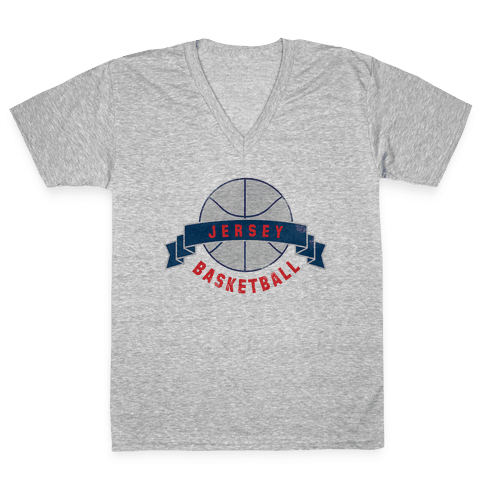 Jersey Basketball V-Neck Tee Shirt