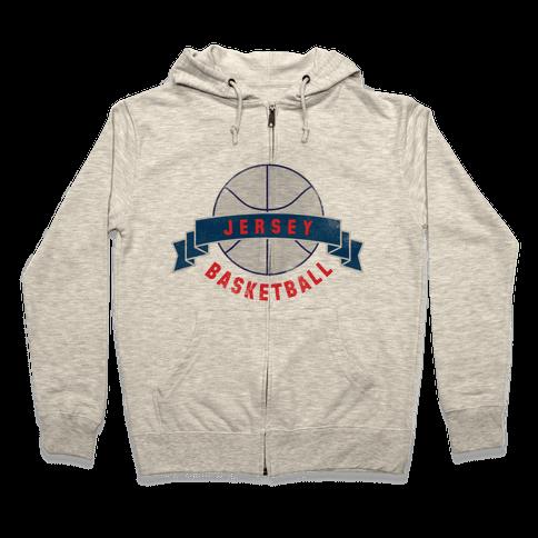 Jersey Basketball Zip Hoodie
