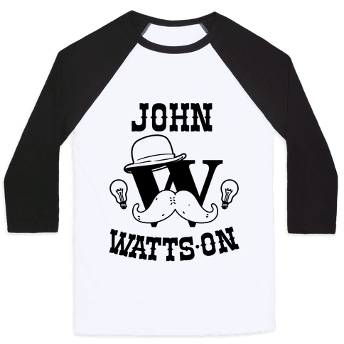 Sherlock Ohms Pair (John Watts On) Baseball Tee