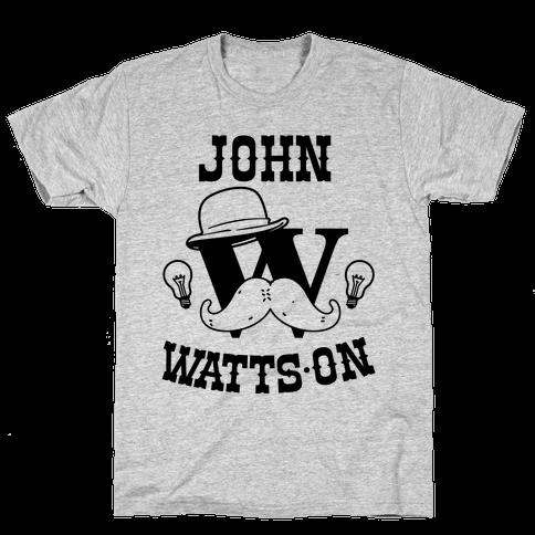 Sherlock Ohms Pair (John Watts On) Mens T-Shirt