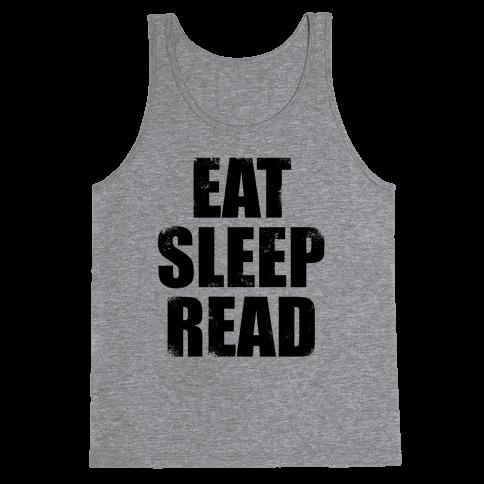 Eat Sleep Read Tank Top