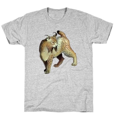 Wild Cat Lynx Mens T-Shirt