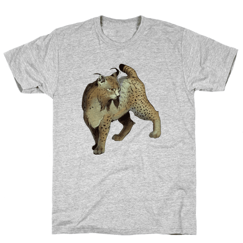 Wild Cat Lynx Mens T-Shirt