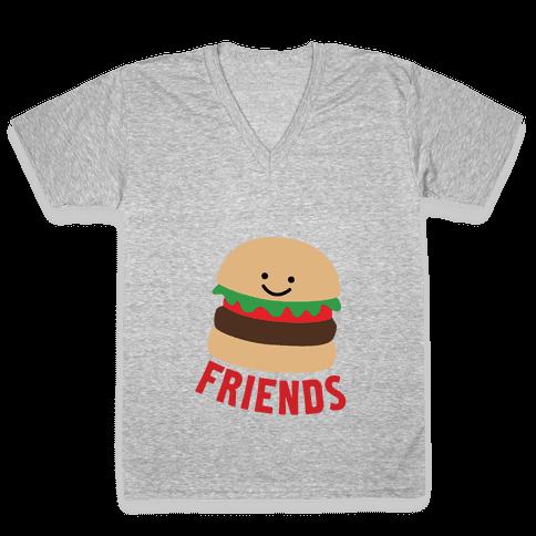 Best Burger V-Neck Tee Shirt