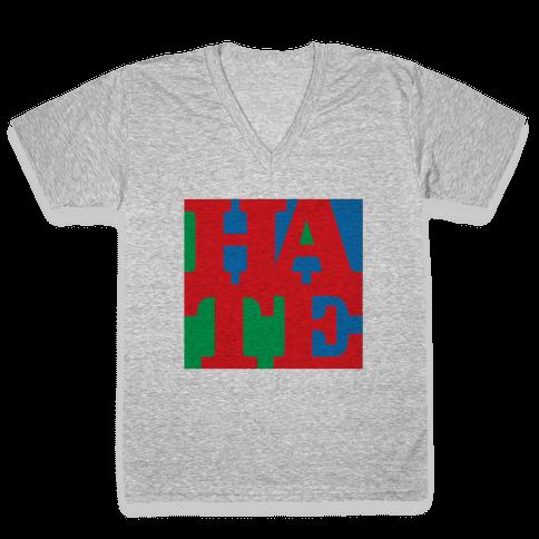 HATE V-Neck Tee Shirt