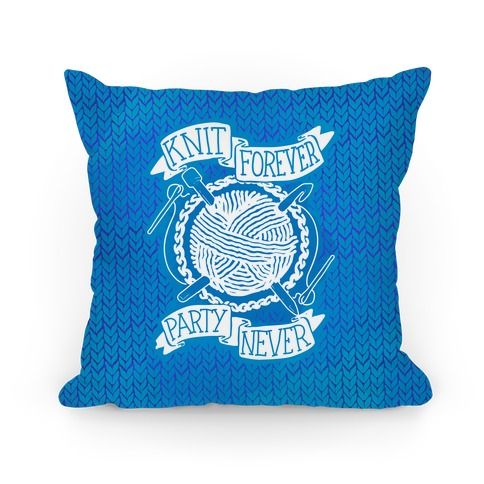 Knit Forever Party Never Pillow