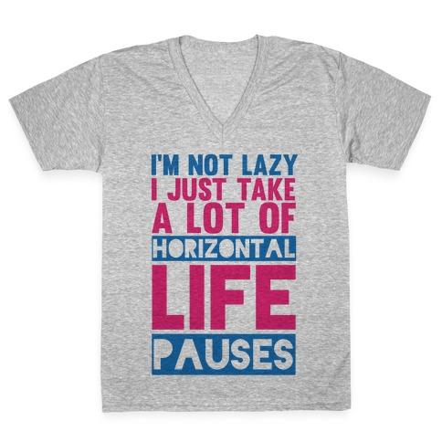 Not Lazy V-Neck Tee Shirt
