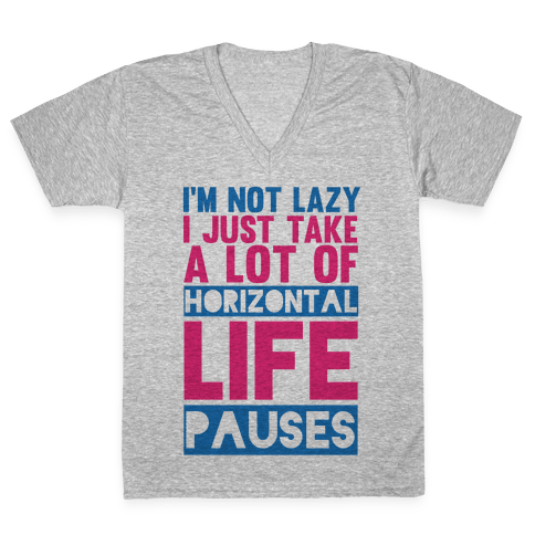 Not Lazy V-Neck Tee Shirt