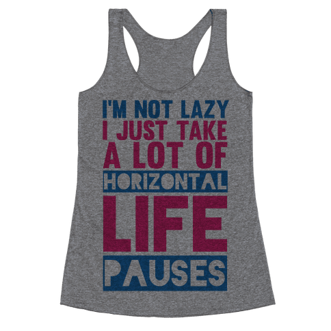 Not Lazy Racerback Tank Top