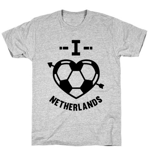 I Love Netherlands (Soccer) T-Shirt