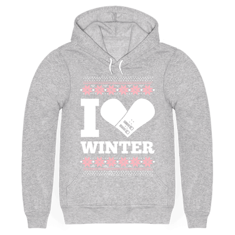 I Love Winter (Snowboard Heart)