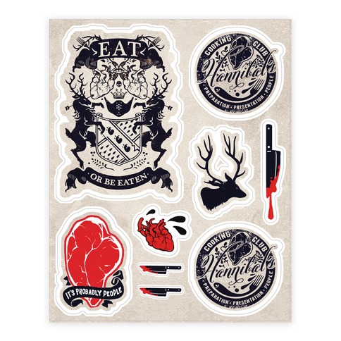 Hannibal Sticker and Decal Sheet