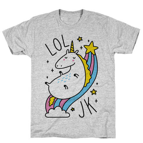 LOL JK Unicorn Mens T-Shirt
