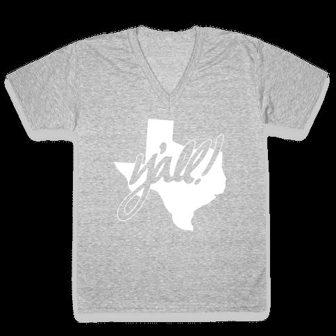 Y'all! (Texas) V-Neck Tee Shirt