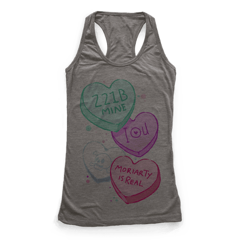 Sherlock Valentines Candy Hearts Racerback Tank Top