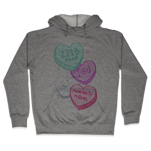 Sherlock Valentines Candy Hearts Hooded Sweatshirt