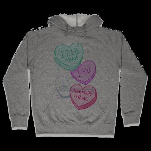 Sherlock Valentines Candy Hearts Hooded Sweatshirt
