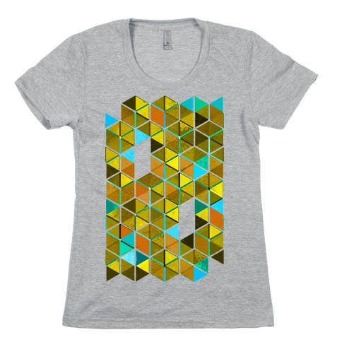 Colorful Tiles Womens T-Shirt