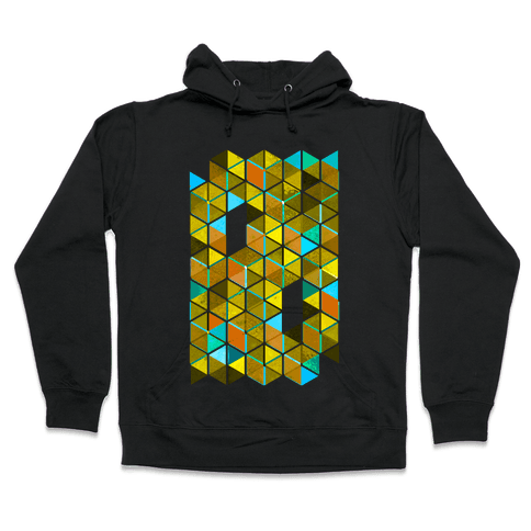Colorful Tiles Hooded Sweatshirt