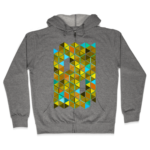Colorful Tiles Zip Hoodie