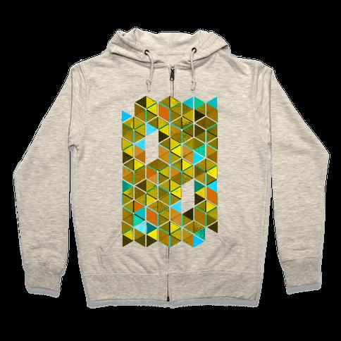 Colorful Tiles Zip Hoodie
