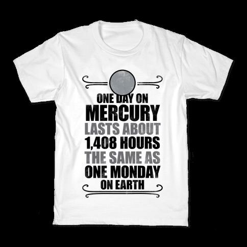 One Day On Mercury Kids T-Shirt