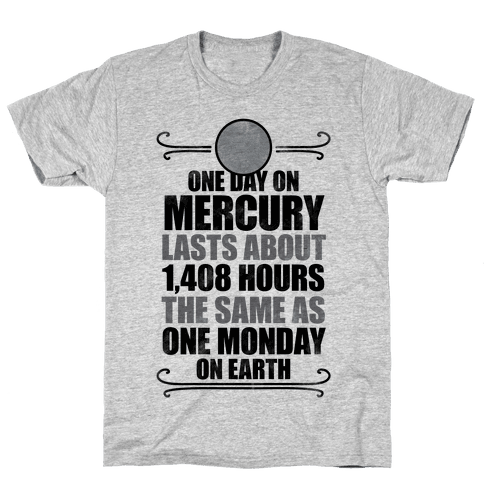 One Day On Mercury Mens T-Shirt