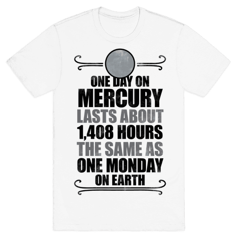 One Day On Mercury Mens T-Shirt