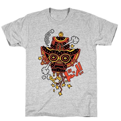 Broken Robot Head Mens T-Shirt