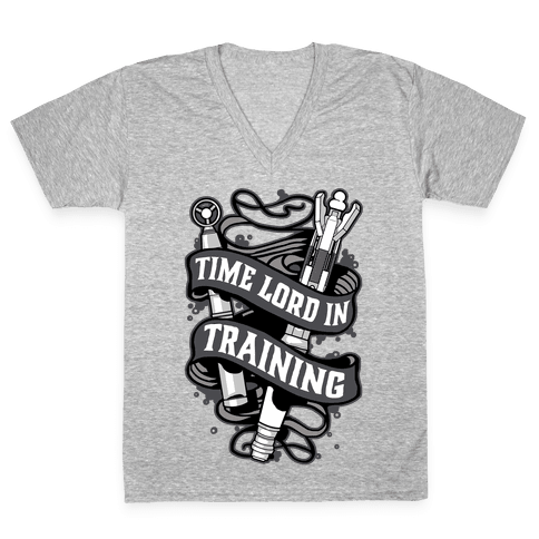Time Lord In Training V-Neck Tee Shirt
