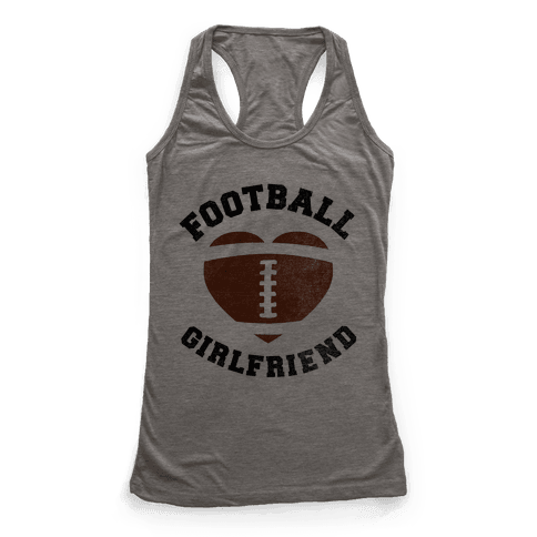 Football Girlfriend Racerback Tank Top
