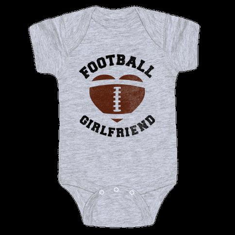 Football Girlfriend Baby Onesy