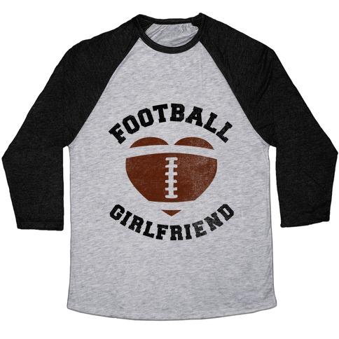 Football Girlfriend Baseball Tee