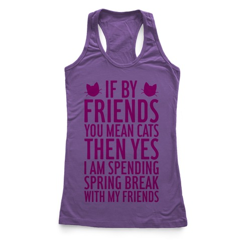 Spring Break With Friends Racerback Tank Top