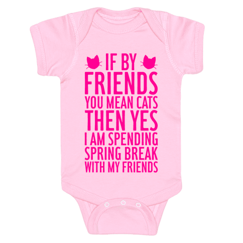Spring Break With Friends Baby Onesy