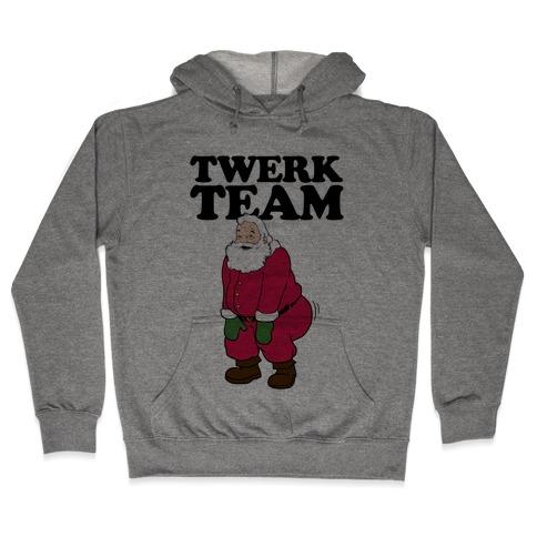 Twerk Team Santa Hooded Sweatshirt